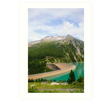 Austria, Zillertal High Alpine nature Park landscape Art Print