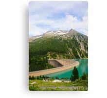 Austria, Zillertal High Alpine nature Park landscape Canvas Print
