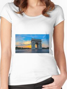 Arc De Triomphe 7 Women's Fitted Scoop T-Shirt