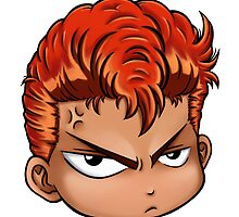 Hanamichi Sakuragi From Slamdunk By Chibi-Heado by kyzson69