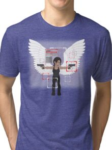 POI Chibi: Shaw (with wings) Tri-blend T-Shirt