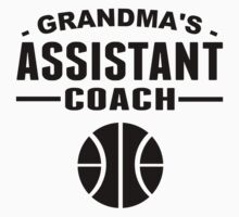 Grandma's Assistant Basketball Coach Kids Tee