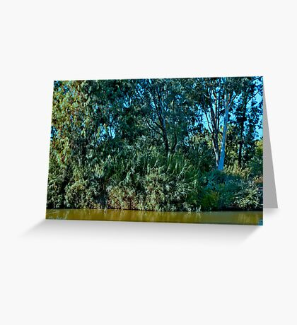 Listening to the whispering Watercourse Greeting Card