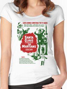 Santa v Mars Women's Fitted Scoop T-Shirt