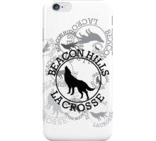 Teen Wolf - Beacon Hills Lacrosse Tee (Black Print) iPhone Case/Skin