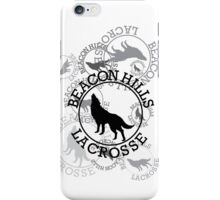Teen Wolf - Beacon Hills Lacrosse Tee (Black Print) iPhone Case/Skin