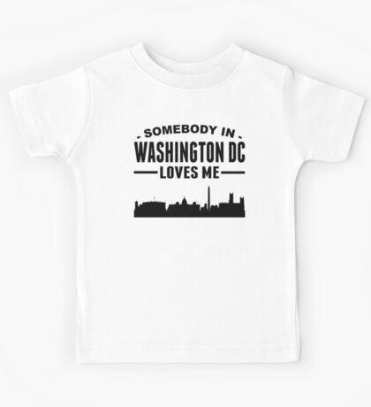 Somebody In Washington DC Loves Me Kids Tee