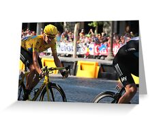 Bradley Wiggins - Tour de France 2012 in Paris Greeting Card