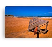 Sandy Red Beach (HDR) Canvas Print