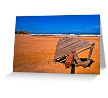 Sandy Red Beach (HDR) Greeting Card