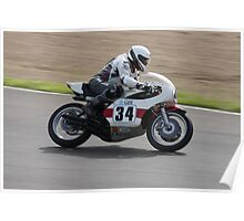 Old motor bike racing at Eastern creek Poster