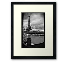 Travel BW - Paris Eiffel Tower III Framed Print