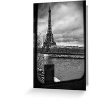 Travel BW - Paris Eiffel Tower III Greeting Card