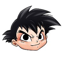 Son Goku From Dragon Ball By Chibi-Heado Photographic Print