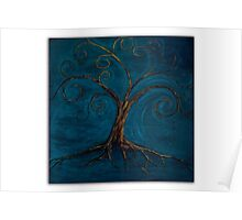 Tree of Life ( blue ) Poster