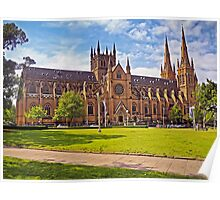 132 Years For Gothic Revival - St Mary's Cathedral, Sydney Poster