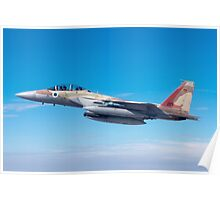 Israeli Air force Fighter jet F-15I in flight Poster