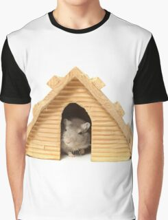 Successful mouse living in a wooden house Graphic T-Shirt