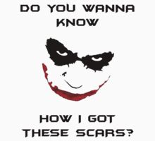 Joker Scars Kids Clothes