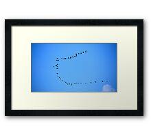 Birds Flying in Formation Framed Print