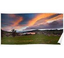 Sunset over Cygnet, Tasmania Poster