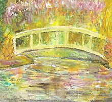Postcard from Europe - in Monet's garden by Gary Shaw