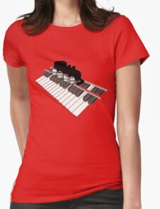 Piano Rail Railroad Revival Womens Fitted T-Shirt