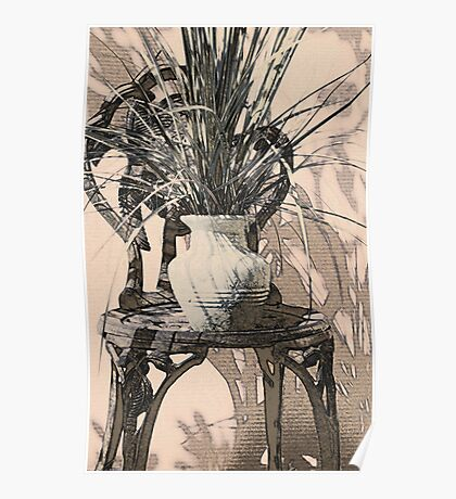Plant with Chair Poster
