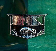 1951 Kaiser Deluxe Traveler Emblem by onyonet photo studios