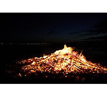 And the Fire Burns Out Photographic Print