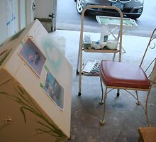 Furniture Painting Workspace by Cathy Amendola