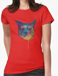 Tie Dye Cat Womens Fitted T-Shirt