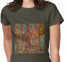 """""""Fall Cattails and Bamboo""""© Womens Fitted T-Shirt"""