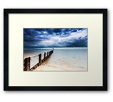 Moody Beach Framed Print