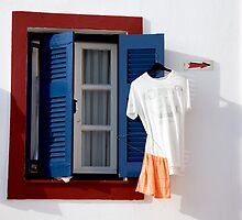 Tee And Towel Window by phil decocco
