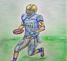 Football Player by thuraya arts