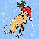 Christmas Greyhound Card by jameshardy