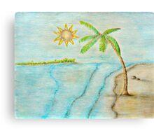 beach island Canvas Print