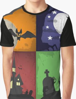 Halloween - 4 Boxes Graphic T-Shirt