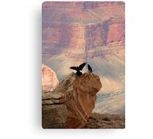 Grand Canyon Ravens Canvas Print