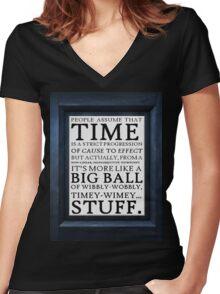 Wibbly-Wobbly, Timey-Wimey.. Stuff! Women's Fitted V-Neck T-Shirt