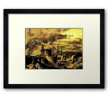 Pendennis Castle and Falmouth from St Mawes Castle 1811 Framed Print