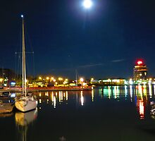 FULL MOON HARBOUR. by CHRIS RALKO