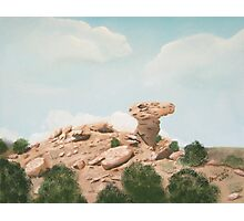 Camel Rock New Mexico USA  ~ Oil Painting Photographic Print