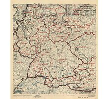 June 2 1945 World War II Twelfth Army Group Situation Map Photographic Print