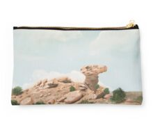 Camel Rock New Mexico USA  ~ Oil Painting Studio Pouch