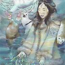 Sedna, Inuit Goddess of the Sea (Color) by Genevieve  Cseh