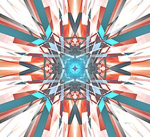 Blue Orange Kaleidoscope by perkinsdesigns
