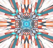 Blue Orange Kaleidoscope by Phil Perkins