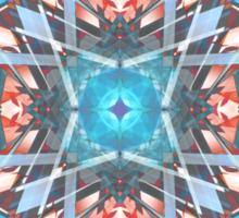 Blue Orange Kaleidoscope Sticker